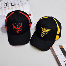 YIFEI Pokemon Go Hat Team Valor Mystic Instinct Cap Black Baseball Men Snapback Women - YI FEI Accessories Store store