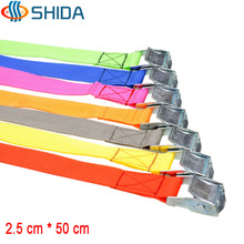 10PCS 1 inch (2.5cm)*50cm Metal Cargo Lashing Strap Polypropylene Ratchet Tie Down with Cam Buckle Winch Strap Free Shipping(China)