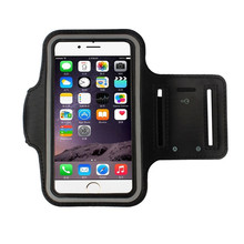 2017 Phone cases Gym Running Sport Arm Band Case Cover for iphone 6 6s 7 Plus for Samsung IOS Android Cell phones Black