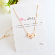 Stars Boat Anchor Triangle Palm Pendant Necklace Hollow Heart Hand Necklaces For Women Girl Men Clavicle chain Jewelry Gift(China)
