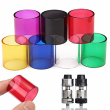 Colorful Glass tube For Ijoy Tornado Box Transparent Replacement Glass Tube Tank Cap For Smok Clear Glass Tube Cap(China)