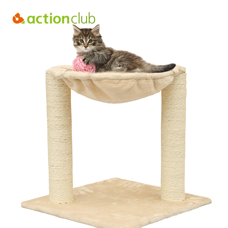 Actionclub USA Domestic Delivery Mini Cat Scratching Wooden Climbing Tree Cat Jumping Toy Climbing Frame Pet Furniture 2-7 Days(China (Mainland))