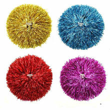10pcs/lot Cheerleading Pom Poms Cheerleaders Flowers PVC Hand Flowers Pompoms Supplies with Plastic Finger Ring 7color Available