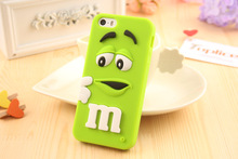 Candy Color Silicone M&S Chocolate Beans Design Mobile Phone Bag For Iphone 6 6s 6Plus 6s Plus Cell Phone Back Cover Case