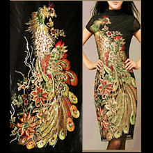 DIY accessories embroidery Phoenix cloth heavy embroidery cloth dress fabric manufacturers promotion(China)