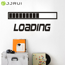 JJRUI LOADING GAMING Vinyl Wall Decal Art Room Decor Sticker Word Lettering Quote Bedroom Living Room Wall Stickers(China)
