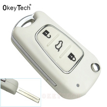 OkeyTech 3 Buttons Car Flip Floding Key Shell For Kia Sportage K3 K5 cerato ceed For Hyundai ix35 i30 Remote auto Key Case Blan(China)