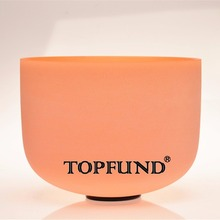 Buy TOPFUND Orange Colored Frosted Quartz Crystal Singing Bowl D# Note Sexual Chakra 12'',O ring Mallet included,For Meditation