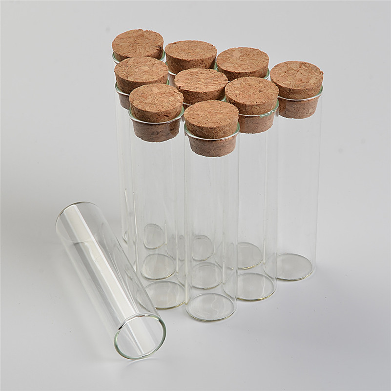 30ml Empty Glass Transparent Clear Bottles With Cork Stopper Glass Vials Jars Storage Bottles Test Tube Jar