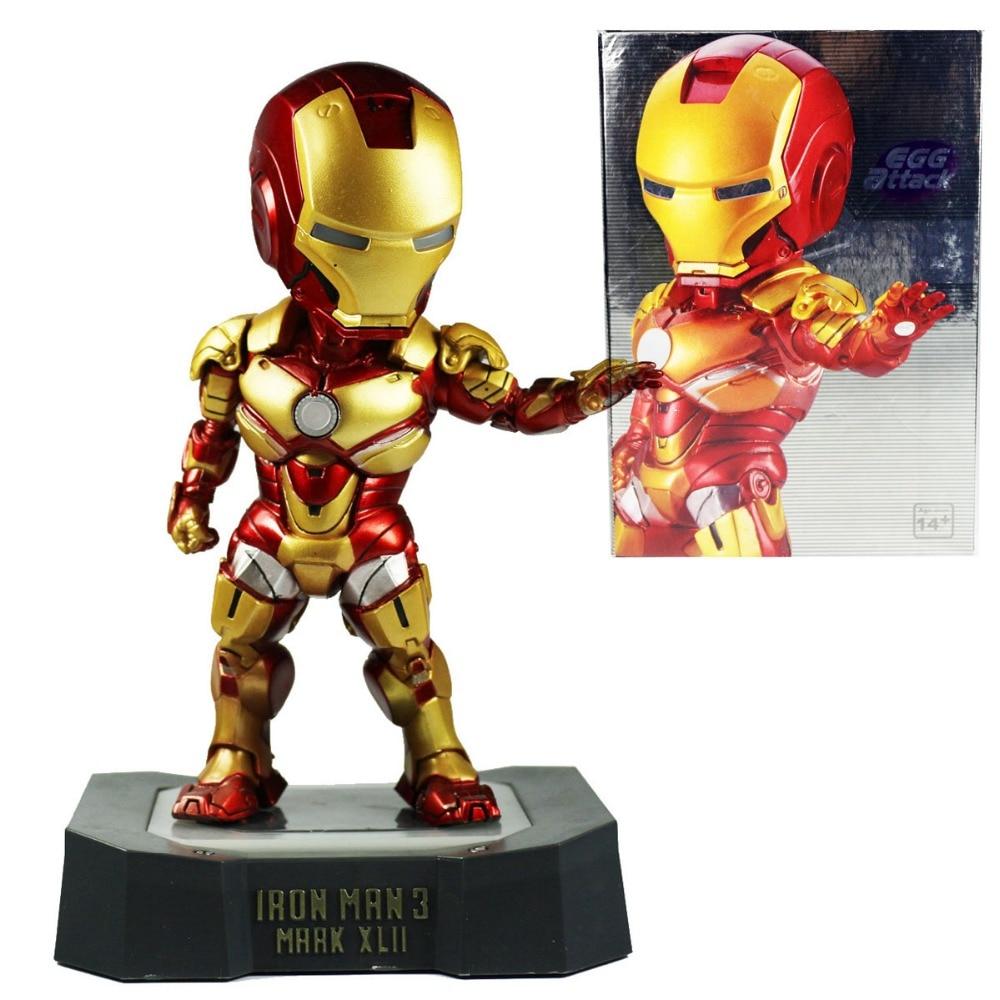 Tony Stark 3 EGG Attack Mark XLII MK 42 PVC Action Figure with LED Light 7 Free Shipping<br>