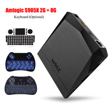 M96X Android 6.0 S-905X 2GB RAM 8GB ROM WIFI 3D 4K H.265 Dolby Smart TV BOX with LED Indicator Media Player Set Top Box(China)