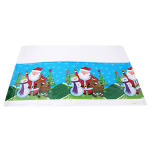 Christmas Decorations for Home Disposable Tablecloth Festival Rectangle Table Cloth Tableware Dining Kitchen Table Cover(China)