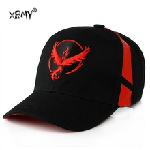 Black Baseball Cap Men Snapback Pokemon Hat Women Go Team Valor Mystic Instinct - 0926XB Hats Store store
