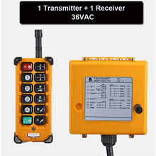 36VAC Wireless Crane Remote Control F23-A Industrial Remote Control Hoist Crane Push Button Switch 1 Transmitter + 1 Receiver(China)