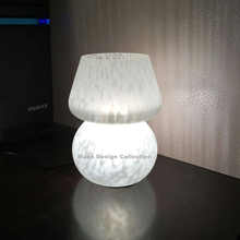 White Mushroom Tiffany Stained Glass Table Lamp,Living Room Bedroom Studio Table Lamp Birthday Wedding Cerative Gift(China)
