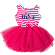 Infant Boutique Dress Girl Party Wear Baby Outfits Tutu Newborn Children's Clothing Girl 1 2 3 Year Toddler Girl Birthday Dress(China)