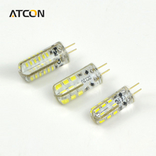 1Pcs G4 DC12V Mini LED Corn Bulb Silicone Body 3014 SMD Crystal Chandeiler 24 48 LEDs lamp Replace 10W 30W 40W Halogen light