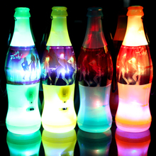 15pcs/lot Wholesale Lightup toys Beer Bottle LED Flashing World Cup Whistle Party Cheer Supplies Special Plastic Whistling