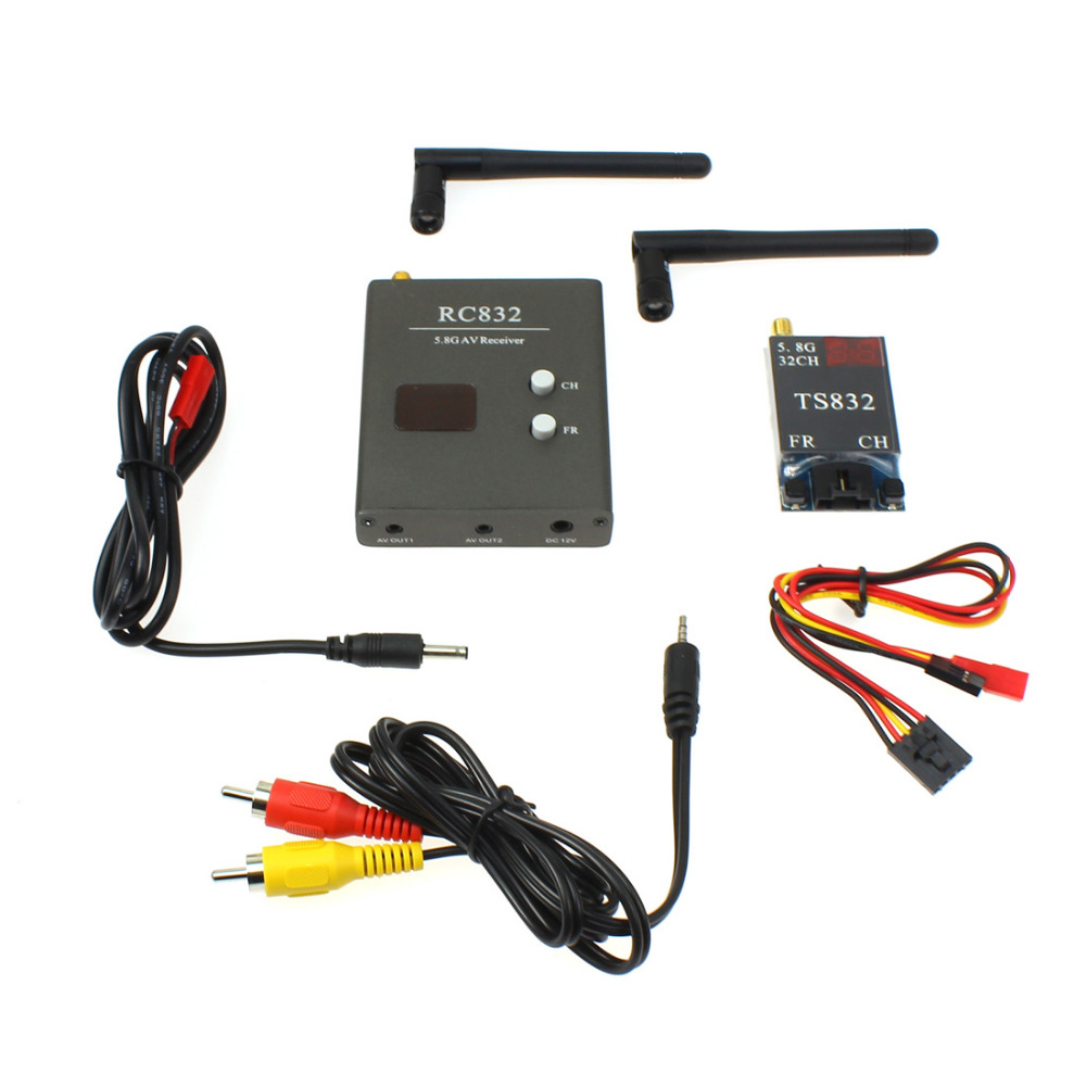 F07270 FPV 600mw Aerial Photography RC832+TS832 5.8G 40CH AV Transmitter &amp; Receiver System<br>