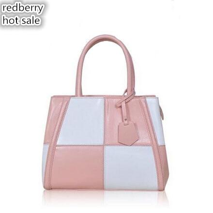 2016 hot sales! genuine leather women handbag patchwork crossbosy bag new style tote women messenger bags fashion shoulder bags<br><br>Aliexpress