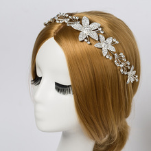 2017 Direct Selling Sale Tiaras Trendy Zinc Alloy Bridal Crystal Floral Wedding Prom Hair Jewelry Accessory Tiara Headband