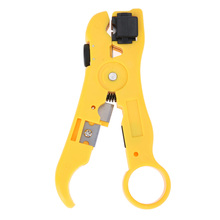 Universal Cable Wire Jacket Stripper with Cable Cutter Stripping Scissors Tool Multi-functional Cutter Striper Adjustable TH4