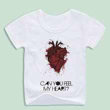 Children Bring Me The Horizon Can You Feel My Heart T Shirts Boy and Girl Red Heart Tops Tee Baby Clothing Customized
