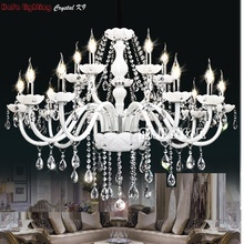 Modern White Crystal Chandelier Lights Lamp Chandeliers For bedroom Living room Fixture Crystal Light Lustres de crista lighting(China)
