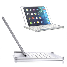 Portable Laptop Style Ultra Slim Keyboard Shell Aluminum Wireless Bluetooth 3.0 Keyboard with Case Cover For iPad Air /Air2