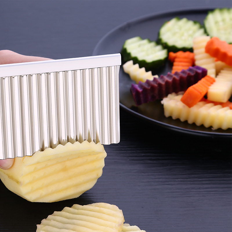 BalleenShiny Potato Slicer Cutter Knife Kitchen Gadgets Accessories Cooking Tools Stainless Steel Fruit Vegetable Chip Cut tool 6