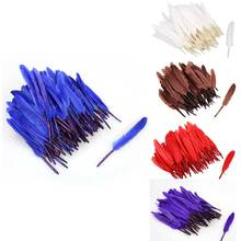 100pcs/set Natural Feather goose 10 cm colorful feather Wedding decoration DIY feathers material accessories(China)