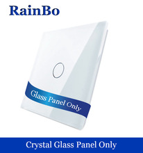 rainbo Free shipping Luxury Crystal  Glass Touch  Switch Panel 80mm*80mm EU Standard Glass Panel For DIY Acessories A191W/B1