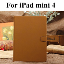 "For Apple iPad mini 4 Genuine Leather Case 7.9"" Tablet Stand Smart Cover(China)"
