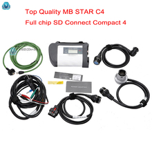Top-Quality mb star c4 2017 SD connect c4 with newest software V2017.12 include vediamo 05.01+DTS diagnostic scanner for cars(China)