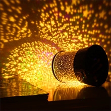 Star Sky Projector Night Light Moon Lamp Flashing Starry Moon Star Kid Sleep Lantern Christmas Novelty Decorations New Year Gift(China)