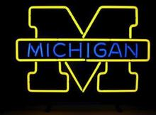 "Business Custom NEON SIGN board For NCAA College Basketball Michigan REAL GLASS Tube BEER BAR PUB Club Shop Light Signs 16*14""(China)"