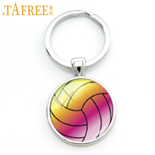 TAFREE novelty fashion casual sports beach volleyball pendant keychain men women bag car jewelry key chain ring holder SP697