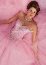 2017 Cheap Quinceanera Dresses Ball Gown Sweetheart Tulle Turquoise Pink Beaded Crystals With Jacket Sweet 16 Pageant Dresses