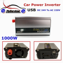 1000 Watt DC 24V to AC 220V Modified Sine Wave With USB Charger Converter Adapter 1000W DC 24 to AC 220 Car Power Inverter(China)