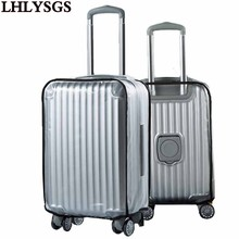 LHLYSGS Brand Thicker PVC Matte Transparent Waterproof Suitcase Dust Covers Travel Luggage Protective Cover Apply 24 To 30 Inch