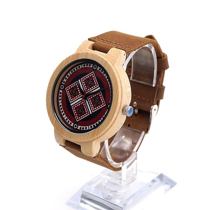 BOBO BIRD Mens Bamboo Wooden Wristwatch Bamboo Case Bohemian Style Dial Leather Quartz Watch reloj de las mujeres<br><br>Aliexpress