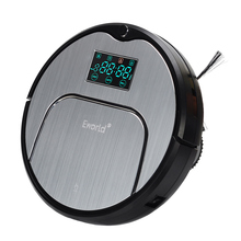 Eworld M883  ABS and Aluminium Alloy Robot Vacuum Cleaner for Dry Wet Cleaning,4 Colors Wireless Vacuum Cleaner for Home
