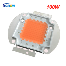 100w led grow chip .full spectrum led diode 30-34v 3A led plant grow light chip for indoor plant seeding grow and flower(China)