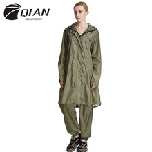 QIAN RAINPROOF Impermeable Raincoat Women Waterproof Trench Coat Poncho Super-light Rain Coat Women Rainwear Rain Gear Poncho