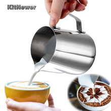 KITNEWER Food Grade Stainless Steel Milk frothing jug Espresso Coffee Pitcher Barista Craft Coffee Latte Pitcher(China)