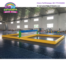 32.8*16.4*3.9ft Inflatable aqua beach volleyball court with air pump