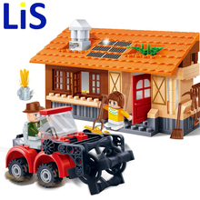 Lis BANBAO 8583 building block set compatible with lepin farms Rural harvest 3D Construction Brick Educational Hobbies Toys Kids