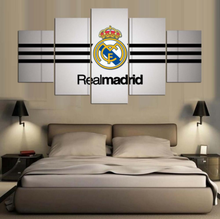 Painting Canvas Printed Real Madrid Football Poster 5 Panel Home Decor For Living Room Artwork Modern Wall Art Modular Pictures