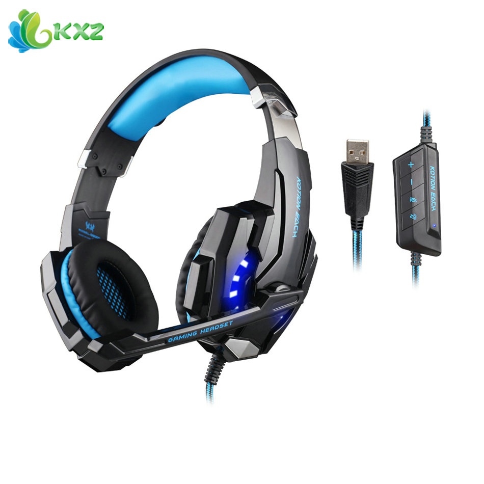 KOTION EACH G9000 USB 7.1 Gaming Headphones Surround Sound Version Computer PC Gamer Headset Headband with Microphone LED Light<br><br>Aliexpress