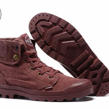 PALLADIUM Pallabrouse Purple Turn help Men Military Ankle Boots Canvas  Casual Shoes Men Casual Shoes( b4d3881d8ad8
